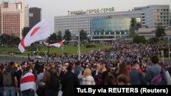 Բելառուս - Ալեքսանդր Լուկաշենկոյի երդմնակալության դեմ բողոքի ցույցը Մինսկում, 23-ը սեպտեմբերի, 2020թ.