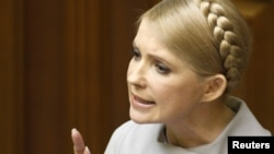 Yulia Tymoshenko defended her government, saying it had protected Ukraine's independence, staved off financial collapse, and maintained Ukrainians' social benefits.