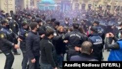 Bakıda qadın fəalların etiraz aksyası, 8 mart, 2021-ci il