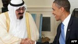 Foto nga arkivi: Mbreti saudit Abdullah dhe presidenti amerikan Barak Obama, Uashington.