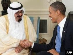 ABŞ prezidenti Obama Səudiyyə kralı Abdullah bin Abdulaziz ilə görüşür, Washington, 29 iyun 2010