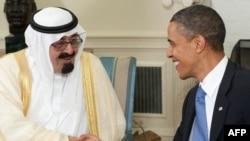 Король Саудовской Аравии Абдулла и президент США Барак Обама
