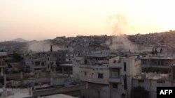 Обстрел города Растан 18 мая