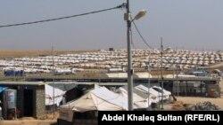 مخيم باجد كندالا للأيزيديين قرب معبر فيشخابور