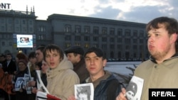 Минск -- Саясий айыпкерлерге тилектештик билдирүү акциясы.12-март 2009-жыл.