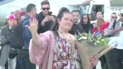 Победительница «Евровидения» Нетта Барзилай вернулась в Израиль (видео)