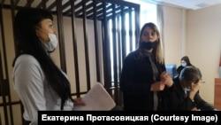 Екатерина Протасовицкая в Ленинском районном суде Самары 11 января 2021 года