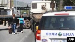 Pamje nga kufiri mes Kosovës dhe Maqedonisë