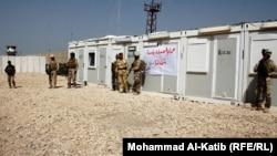 قوات من حرس الحدود العراقية في معبر ربيعة مع سوريا عام 2013.