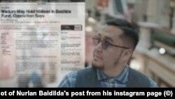 Скриншот поста Нурлана Байдильды с его страницы в Instagram'е. 26 февраля 2019 года.