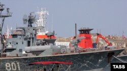 Tensions are high since President Viktor Yanukovych's allies approved an extension to the Russian Black Sea fleet's stay at Sevastopol.