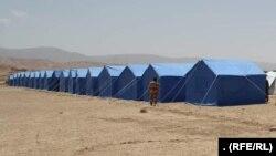 خیمههای بیجاشدهگان جنگها در ولایت غور