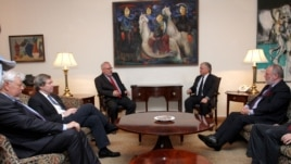 Armenia -- Minister of Foreign Affairs Edward Nalbandyan receives the OSCE Minsk Group co-chairs, Yerevan, 16 May, 2014