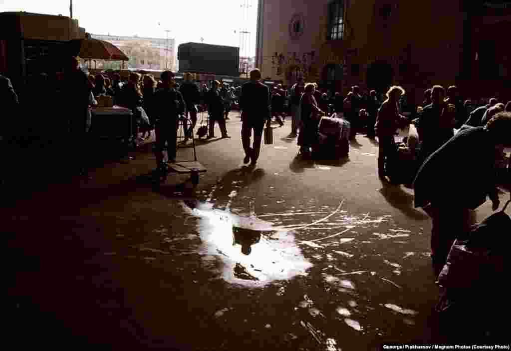 Казанский вокзал. Москва.1995 г.