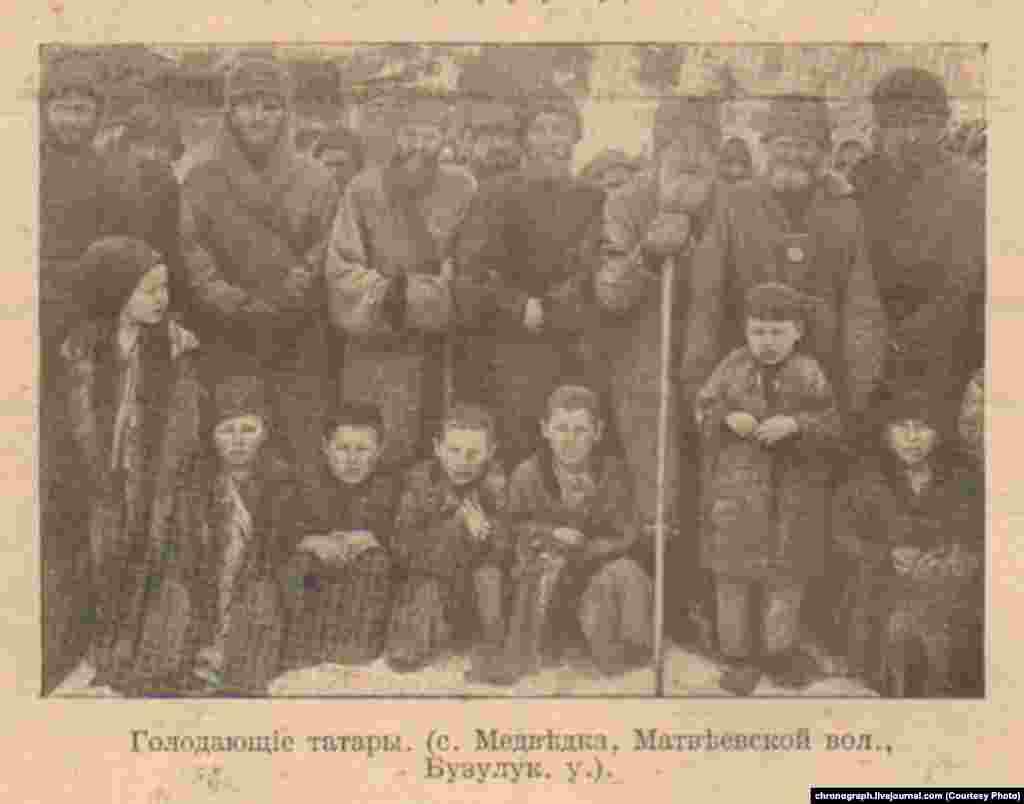 Медведка ауылындағы халық.