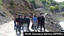 Камнепад в Дагестане, архивное фото