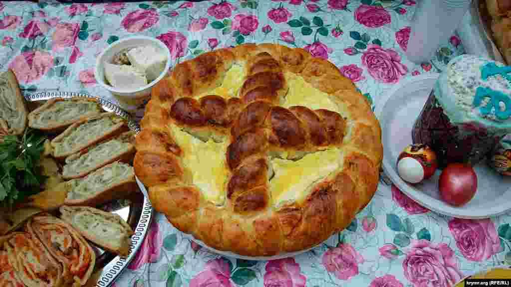 Крім традиційної мамалиги й інших страв національної кухні, молдавська громада представила сирну паску