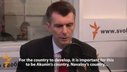 Prokhorov Talks About Presidential Plans