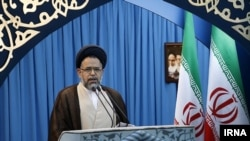Mahmood Alavi, Iran's minister of intelligence during his Friday Prayer speech, April 19, 2019