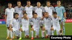 Қазақстан футбол құрамасы Чехия құрамасымен кездесу алдында. Чехия, қыркүйек 2015 жыл.