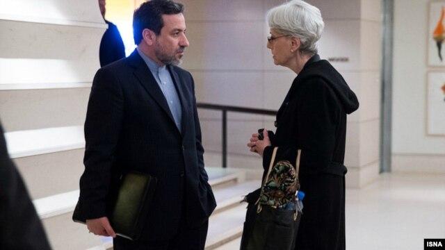 یکی از دیدارهای وندی شرمن، معاون وزارت خارجه آمریکا و همتای ایرانی او عباس عراقچی