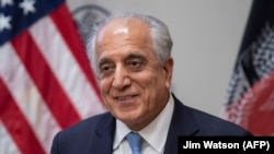 "US. .Special Envoy Zalmay Khalilzad participates in a discussion on ""The Prospects for Peace in Afghanistan"" at the United States Institute of Peace (USIP) in Washington on February 8."