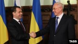 Під час однієї з попередніх зустрічей керівників урядів України і Росії (архівне фото)