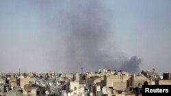 بمباران یکی از مناطق شهر حلب توسط نیروهای دولتی