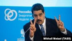 Nicolas Maduro la forumul energetic de la Moscova, 4 octombrie 2017