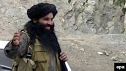A video grab shows Maulana Fazlullah, the head of the Tehrik-e Taliban Pakistan.
