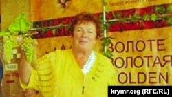 Марія Костик на виставці «Золоте гроно винограду 2012». Сімферополь, 2012 рік