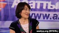 Правозащитник Бахытжан Торегожина. Алматы, 18 июня 2015 года.