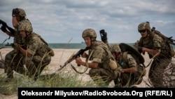 Десантирование многонационального батальона морской пехоты на Тендровскую косу. 14 июля 2017 года