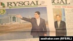 """Senagatçylar we telekeçiler birleşiginiň çykarýan """"Rysgal"""" gazeti"""