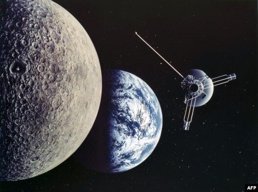 ماه، زمین و فضاپیمای ژوپیتر/ مارس ۱۹۷۲