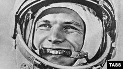 Юрий Гагарин перед первым космическим полетом в истории человечества