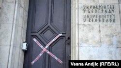 Zgrada Rektorata je već deset dana pod studentskom blokadom