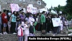 Протест против екстерното текстирање во Прилеп, мај 2013.