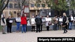Пикет в поддержку Надежды Савченко в Ростове-на-Дону. 26 марта 2016 года.