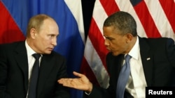 Президент Росії Володимир Путін і президент США Барак Обама, архівне фото