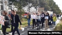 Новосибирскідегі наразылық.