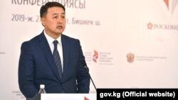 Вице-премьер-министр Кыргызстана Замирбек Аскаров. 27 марта 2019 года.