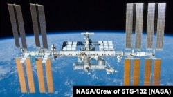 A file photo of the International Space Station