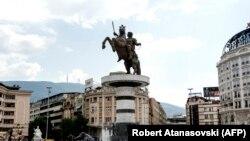 Monumentul lui Alexandru cel Mare la Skoplje, 2018