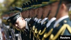 Почетный караул Сил самообороны Японии. Март 2015 года