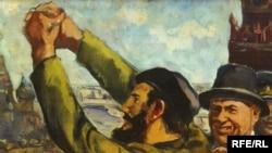 """С.Алтаев. """"Хрущев и Кастро на Красной площади"""""""