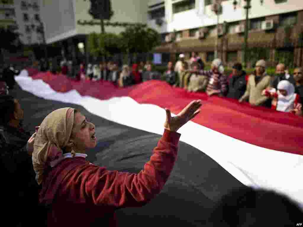 Kairo, 09.02.2011. Foto: AFP / Pedro Ugarte