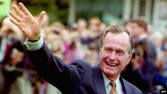 Former U.S. President George Bush, seen here in October, 1992.
