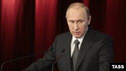 Orsýetiň prezidenti Wladimir Putin Içeri işler ministrliginiň maslahatynda, 4-nji mart, 2015.