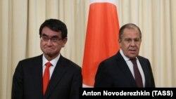 Таро Коно и Сергей Лавров, 24 ноября 2017, Москва